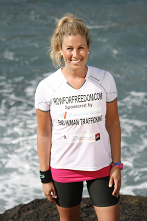 World Record rower, and anti trafficking campaigner, Julia Immonen
