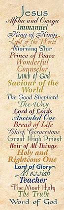 Bookmark Bh Names Of Jesus