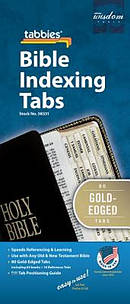 Bible Index Tab Gold Regular