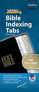 Bible Index Tab Gold Mini