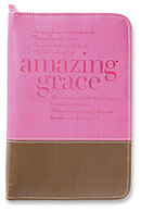 Amazing Grace Bible Cover: Orchid & Chocolate, Large