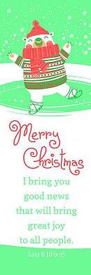 Bookmark-Merry Christmas (Luke 2:10-11 NLT) (Pack Of 25)