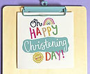 Oh Happy Christening Day Single Card
