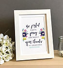 Be Joyful Always 7x5 Framed Print