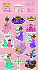 Puffy Stickers Gods Princess - Pack of 10