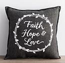 Faith Hope Love Cushion
