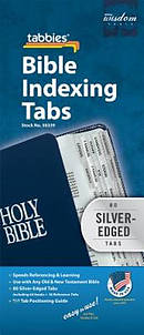 Bible Index Tab Silver Regular