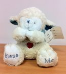 Jesus Loves You Praying Lamb Blue