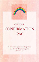 Peach Confirmation Card - Pack of 10