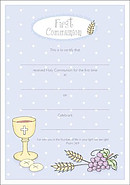 Certificate First Communion Pack of 10