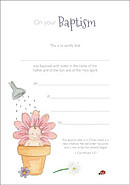 Certificate on Your Baptism Pack of 10
