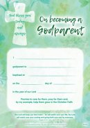 Godparent Certificate Pack of 10