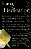 Prayer of Dedication: Prayer Card, Pack of 20