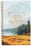 All Things Through Christ Wirebound Notebook