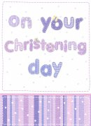 On Your Christening Day Card - Single