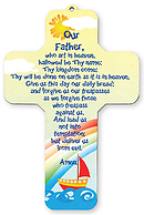 Lord's Prayer Children's Wooden Cross Plaque