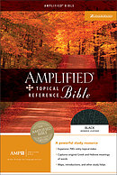 Amplified Topical Reference Bible: Black, Bonded Leather