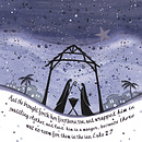 Starlit Nativity Christmas Cards - Pack of 10