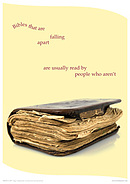 Bibles That Are Falling Apart Poster