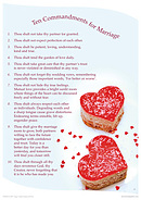Ten Commandments For Marriage Poster