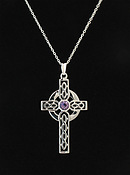 Amethyst Celtic Cross