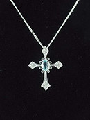 Blue Topaz Cross