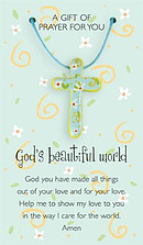 God's Beautiful World Pendant and Prayer Card