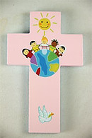 Children of the World Cross Pink
