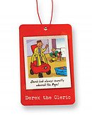Derek the Cleric Car Air Freshener