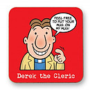 Derek the Cleric Coaster