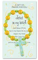 Children's Wooden Jesus In My Heart Bracelet