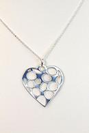 Cubic Zirconia Heart Droplet - Pendant