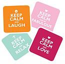 Keep Calm Coaster Set
