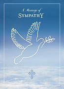 A Message of Sympathy cards (pack of 4)