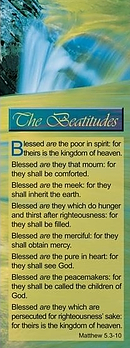 Bible Passage Bookmarks: The Beatitudes - Matthew 5.3-10