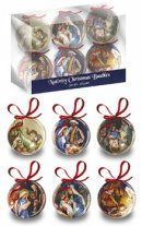 Nativity Christmas Tree Baubles Pack of 6