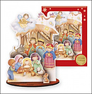 3D Wooden Nativity