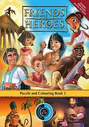 Friends and Heroes Puzzle and Colouring Book 3
