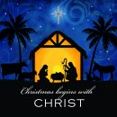 Christmas Begins with Christ Charity Christmas Card Pack of 10