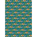 Teal Noah's Ark Gift Wrap and Tags
