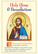 Holy Hour and Benediction Prayer Card