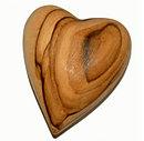 Olive Wood Prayer Heart