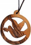 Small Olive Wood Round Dove