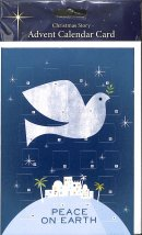 Peace on Earth Advent Calendar Card