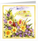 Watercolour Easter Cards Pack of 5