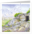 He Is Risen Easter Cards Pack of 5