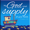 My God Shall Supply Magnet