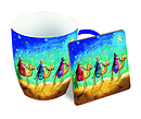 Three wise men Mug & Coaster set