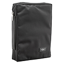 Fish Applique (Black) Promo Poly-Canvas Bible Cover, Large