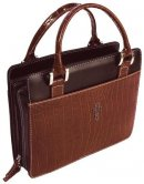 Cross (Brown) Classic Croc Purse-Style - Large Bible Cover